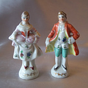 Made In Japan  Gentleman And Lady Figurines