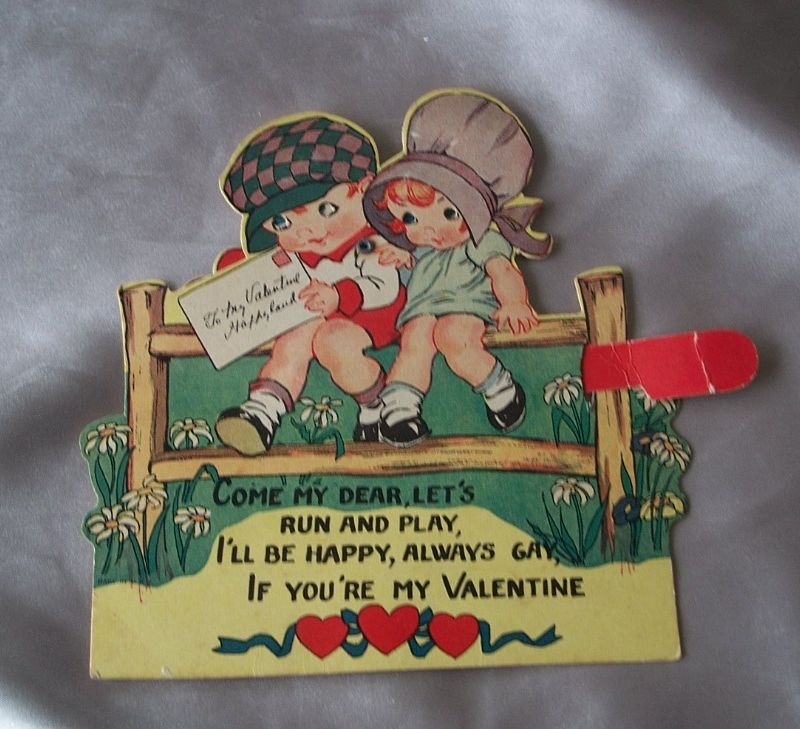 Vintage Mechanical Valentine Card