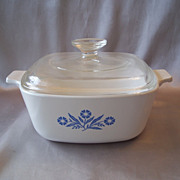 Corning Ware 1-1/2 Qt  Blue Cornflower  Casserole Dish With Lid