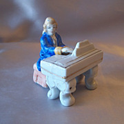 Made In Occupied Japan Man and Piano Figurines