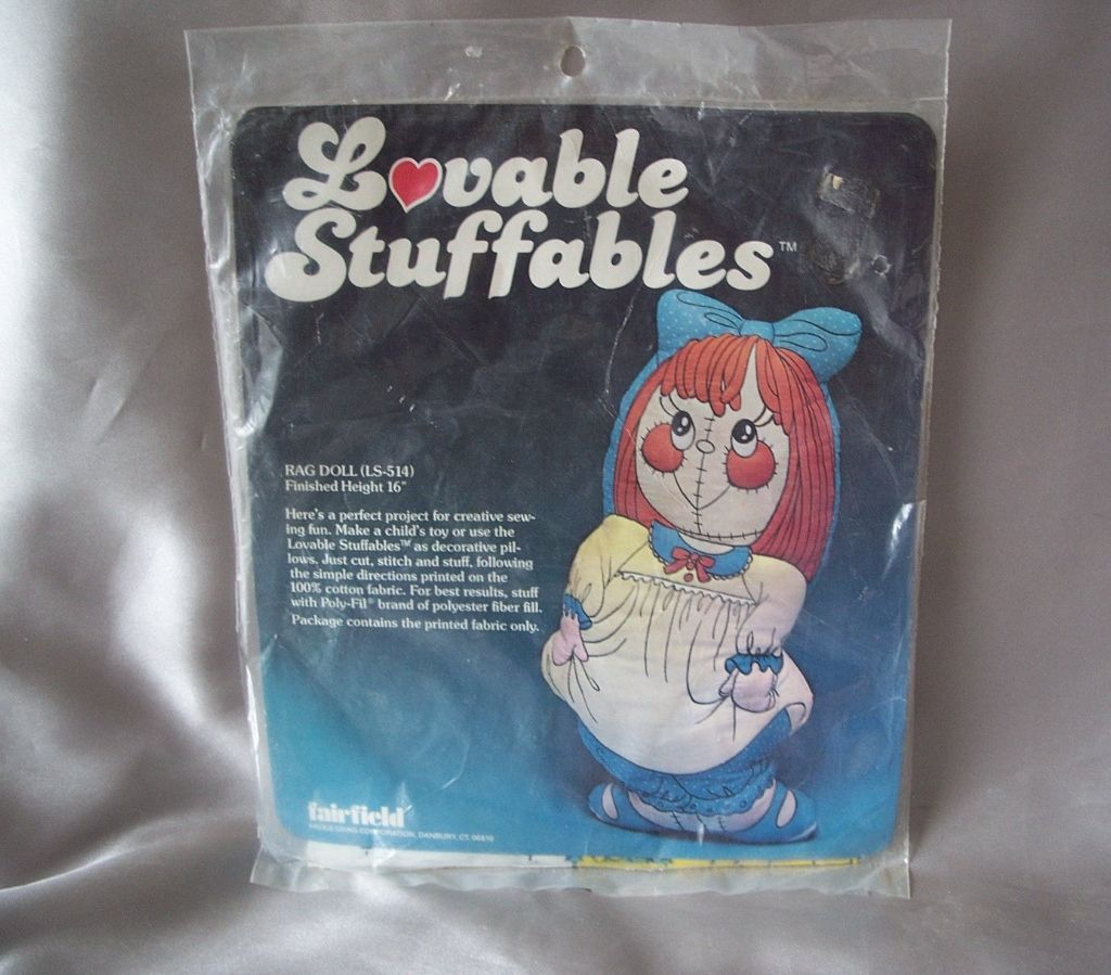 Fairfield Lovable Stuffables Rag Doll