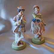 Set Of Ardalt Occupied Japan Man And Women Porcelain Figurine