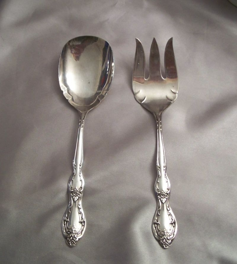 Wm Rogers Silver Plated  Serving Spoon and Meat Fork