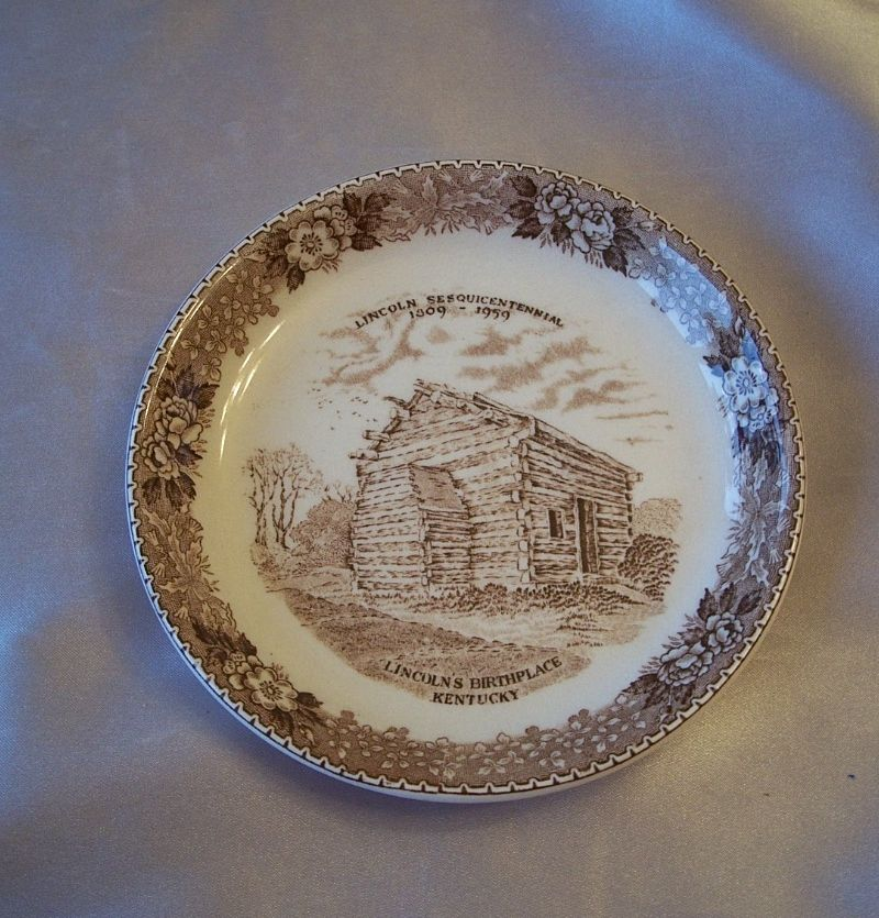 Old English Staffordhire Ware Lincolns Birthplace Plate