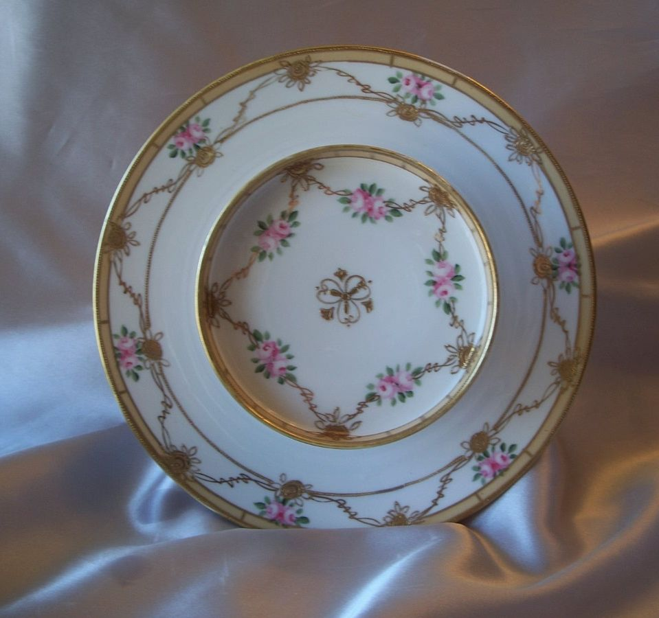Nippon Hand Painted Cheese And Cracker Server