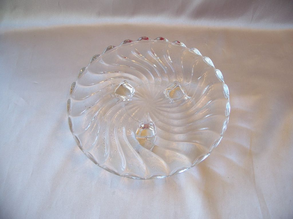 Crystal Fostoria Glass Colony Footed Plate