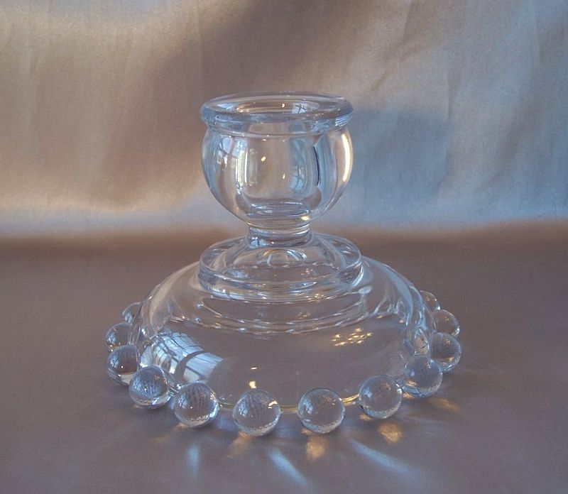 Crystal Imperial Glass Candlewick Candle Holder