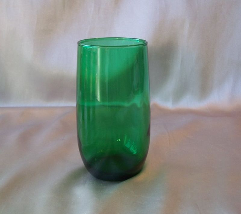 Anchor Hocking Forest Green Tumbler