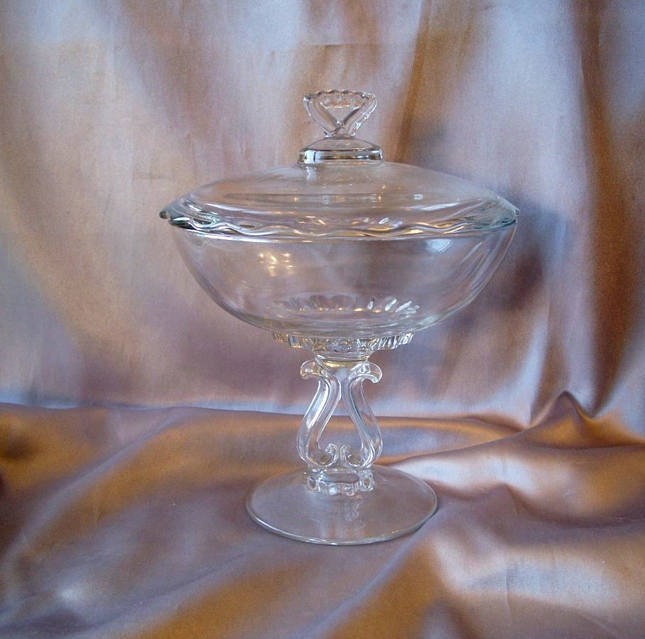 Viking Glass Princess Crystal Candy Dish
