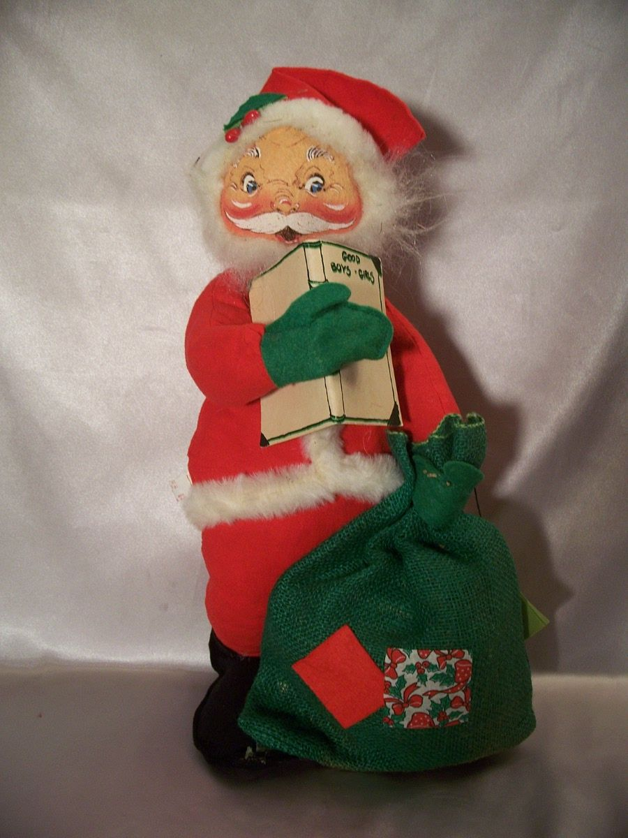 Annalee Santa Claus Doll 1972 From Colemanscollectibles On