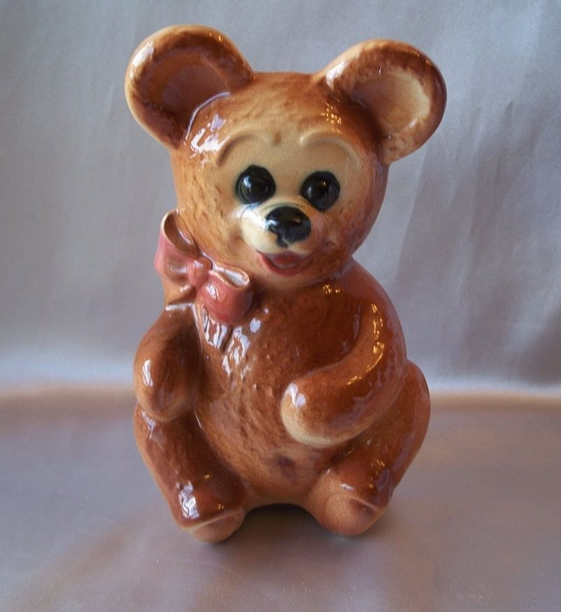 Royal Copley Teddy Bear Planter