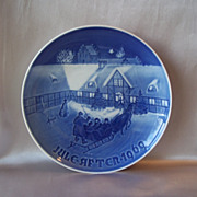 Bing Grondahl  1969 Arrival Of Christmas Plate