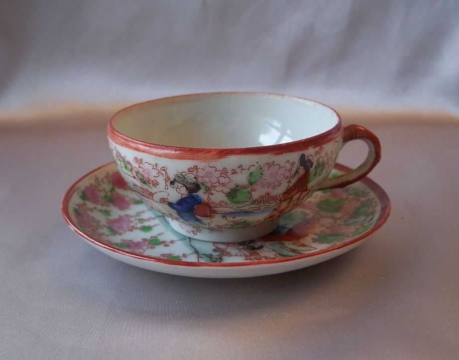 Porcelain Japanese Cup and Saucer