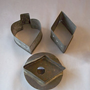 Three  Tin Cookie Cutters