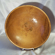 Hand Crafted  Wood Dough Bowl