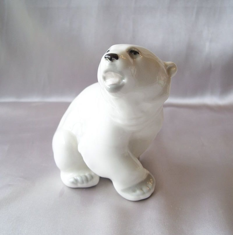 Lomonosov Porcelain Polar  Bear Figurine