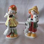 Two Ceramic Children Figurines Japan