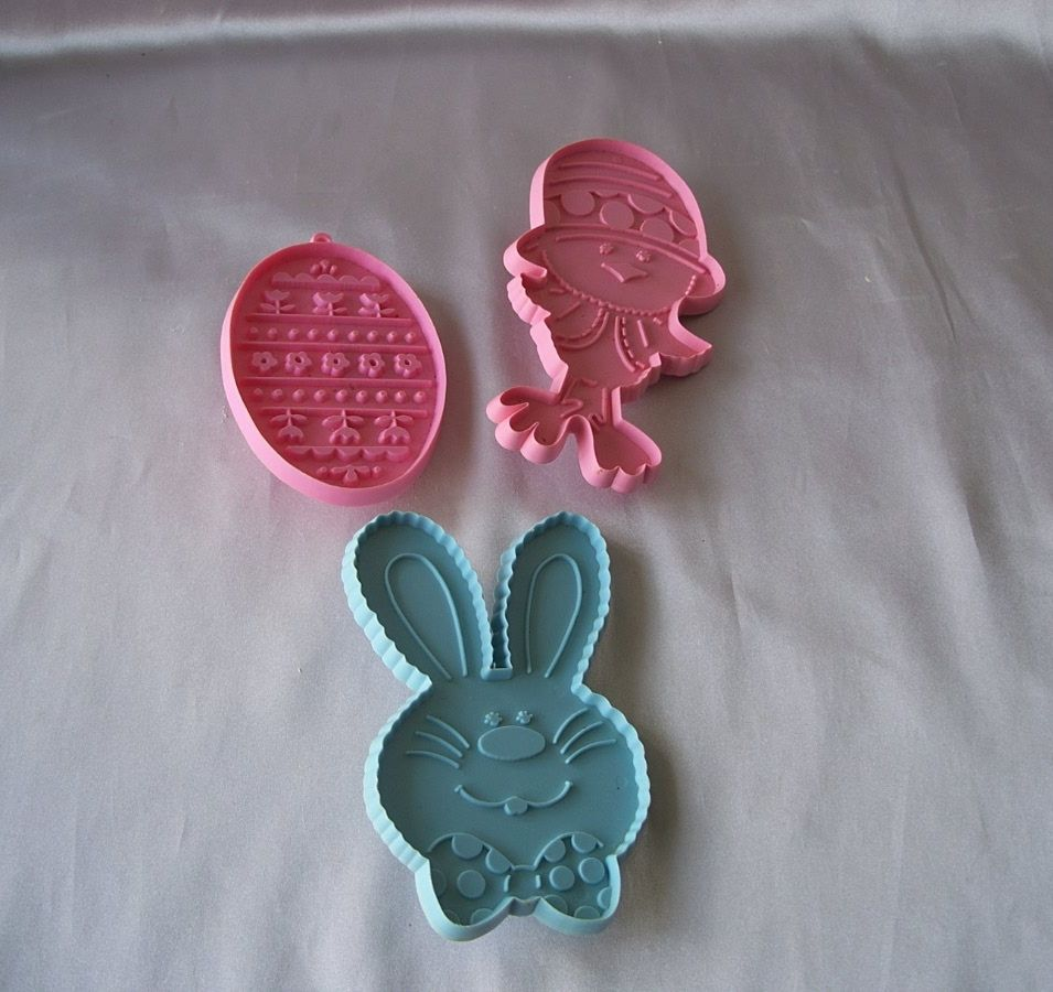 Three Vintage Hallmark Easter Cookie Cutters