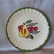 Blue Ridge Hand Painted Fruit Design Plate