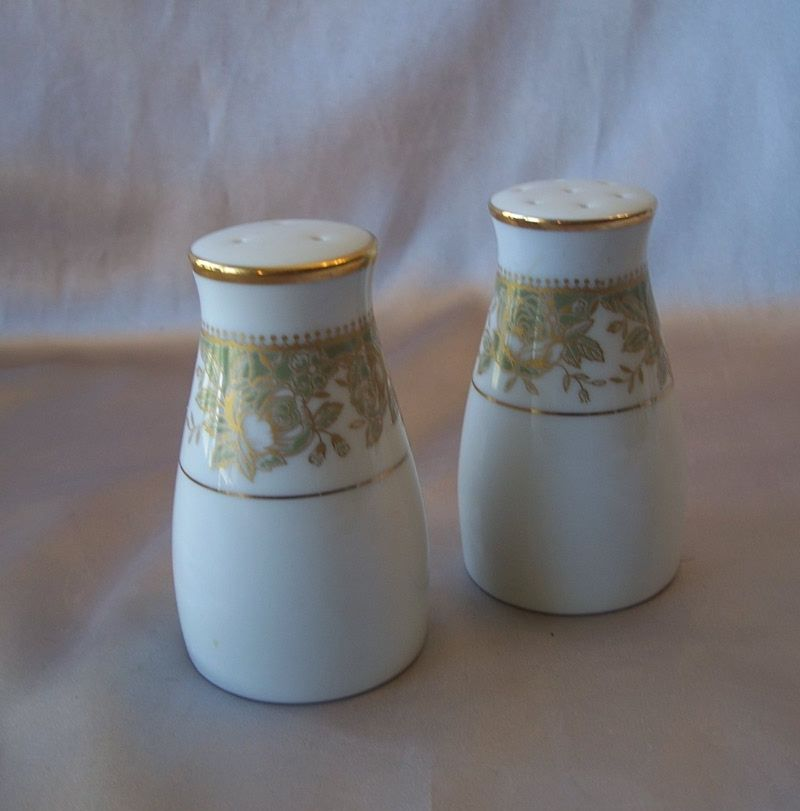 Noritake Porcelain Salt And Pepper Shakers From