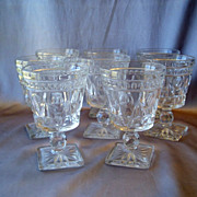 Imperial Glass Crystal Cape Cod  Water Glasses
