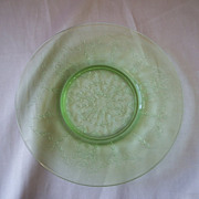 Rose Cameo Depression  Green Salad Plate