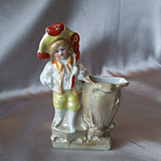 German Bisque  Match Stick Holder Figurine