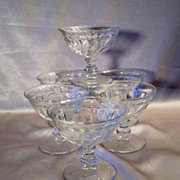 Six Fostoria  Colony Glass Sherbets