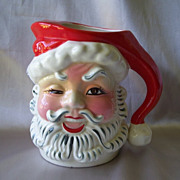 Napco Winking Santa Claus Ceramic Pitcher