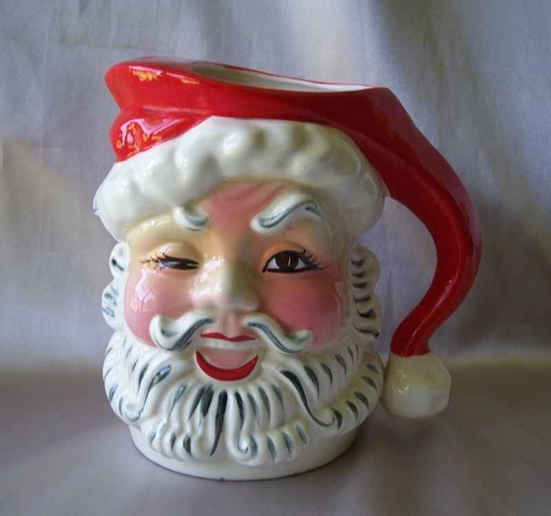 Napco Winking Santa Claus Ceramic Pitcher