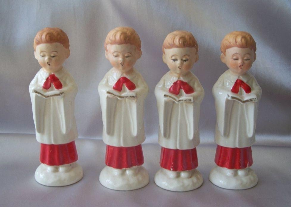 Four Wales Ceramic Christmas Choir Boys