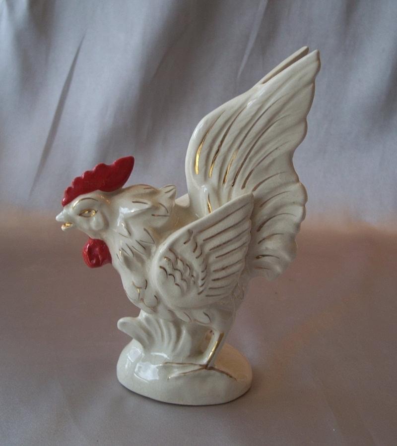 Vintage Ceramic Rooster Figurine