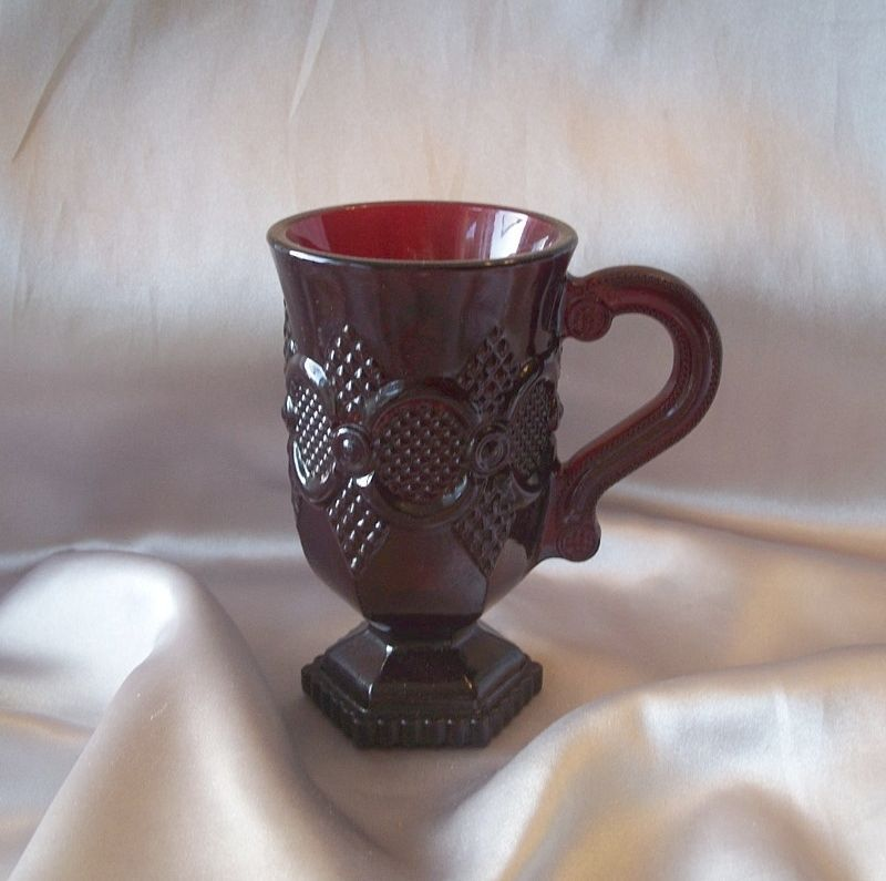 Avon Glass Cape Cod Rudy Red Mug