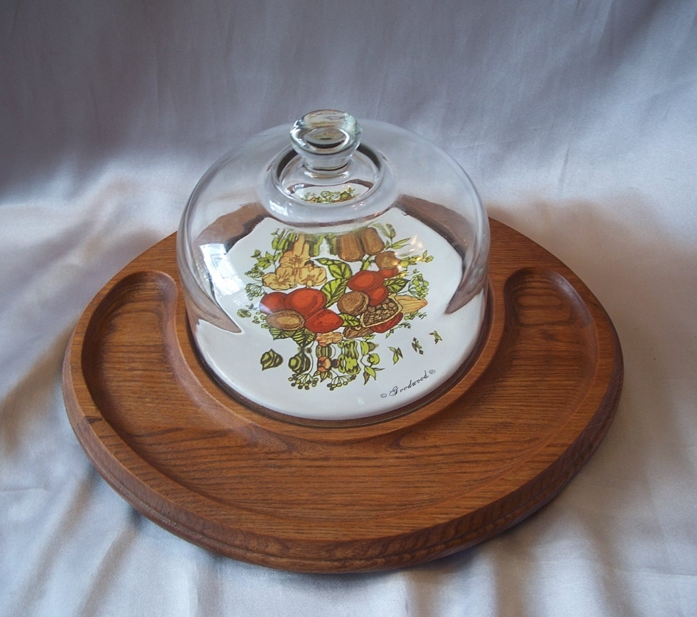 Goodwood Cheese And Cracker Tray With Glass Dome From