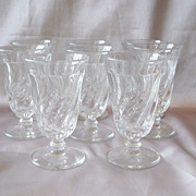 Set Of Eight Fostoria Glass Colony Juice Goblets