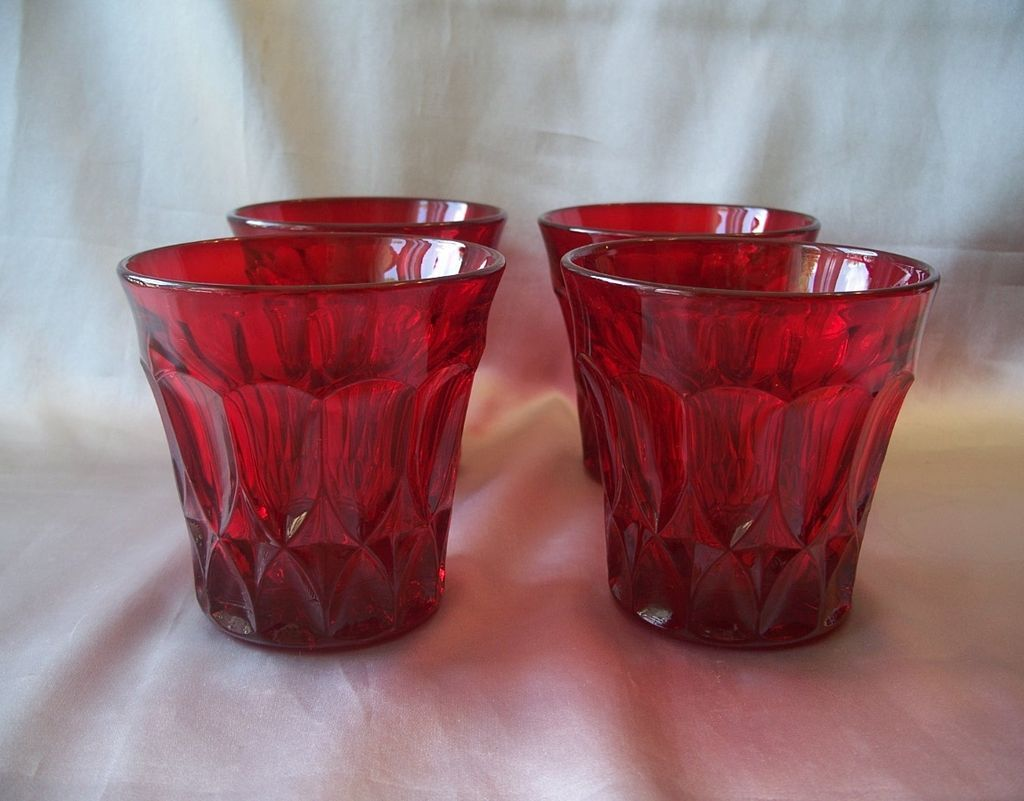 Noritake  Perspective Ruby Red Old Fashion Tumblers