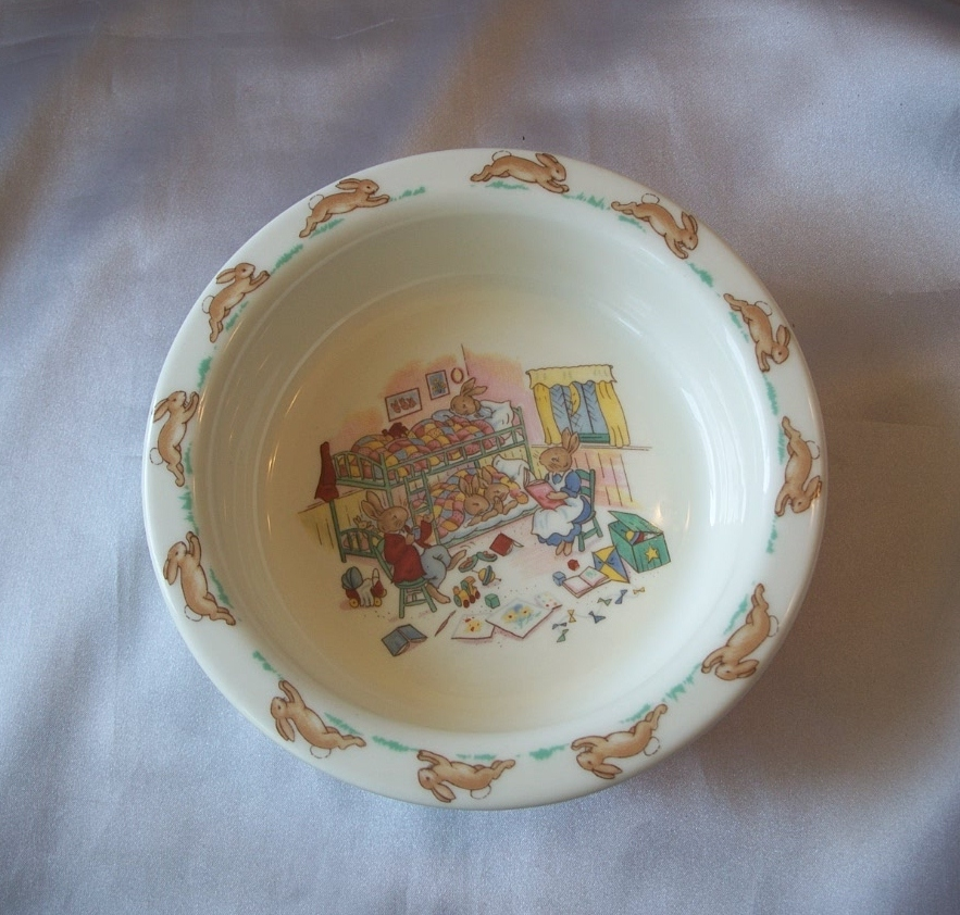 Royal Doulton Bunnykin Bowl Bedtime Story