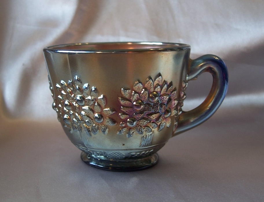 Fenton Glass Blue Orange Tree Punch Cup