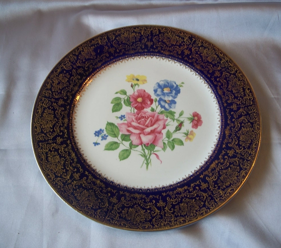 Salem China Aristocrat Blue Dinner Plate