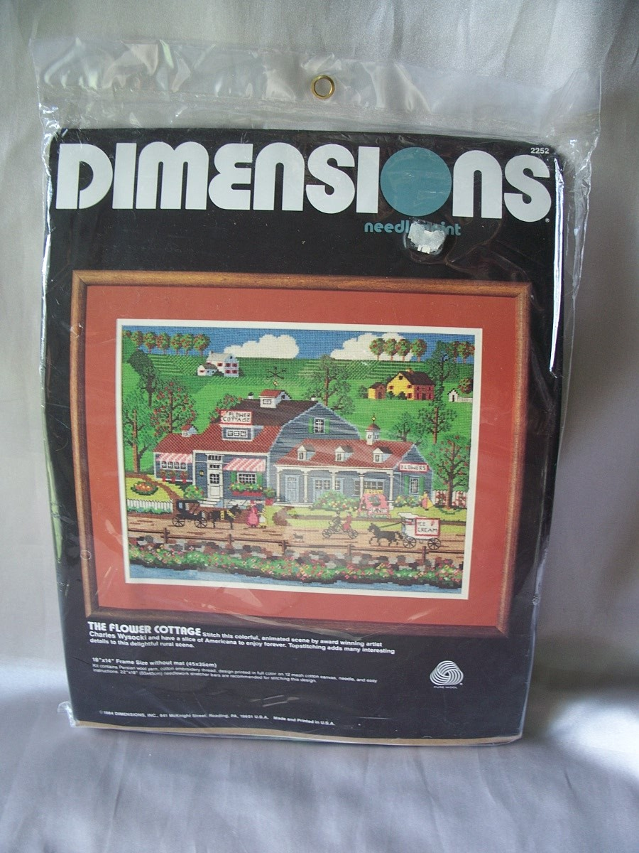 Dimensions The Flower Cottage Needlepoint Kit