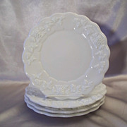 Four Westmoreland Glass Paneled Grape Plate