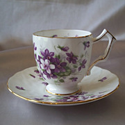 Aynsley Bone China Demitasse Violette Cup and Saucer