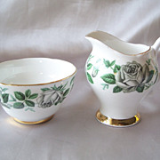 Royal Ardalt Creamer and Sugar with Roses