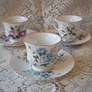 Three Royal Windsor Cups And Saucers