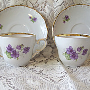 Set of Two Schumann Arzberg Germany Demitasse Cup and Saucer