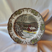 Johnson Bros. Friendly Village School House Dinner Plate