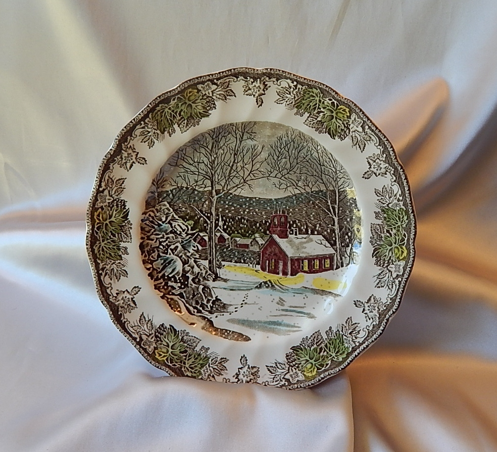 Johnson Bros. Friendly Village School House Dinner Plate