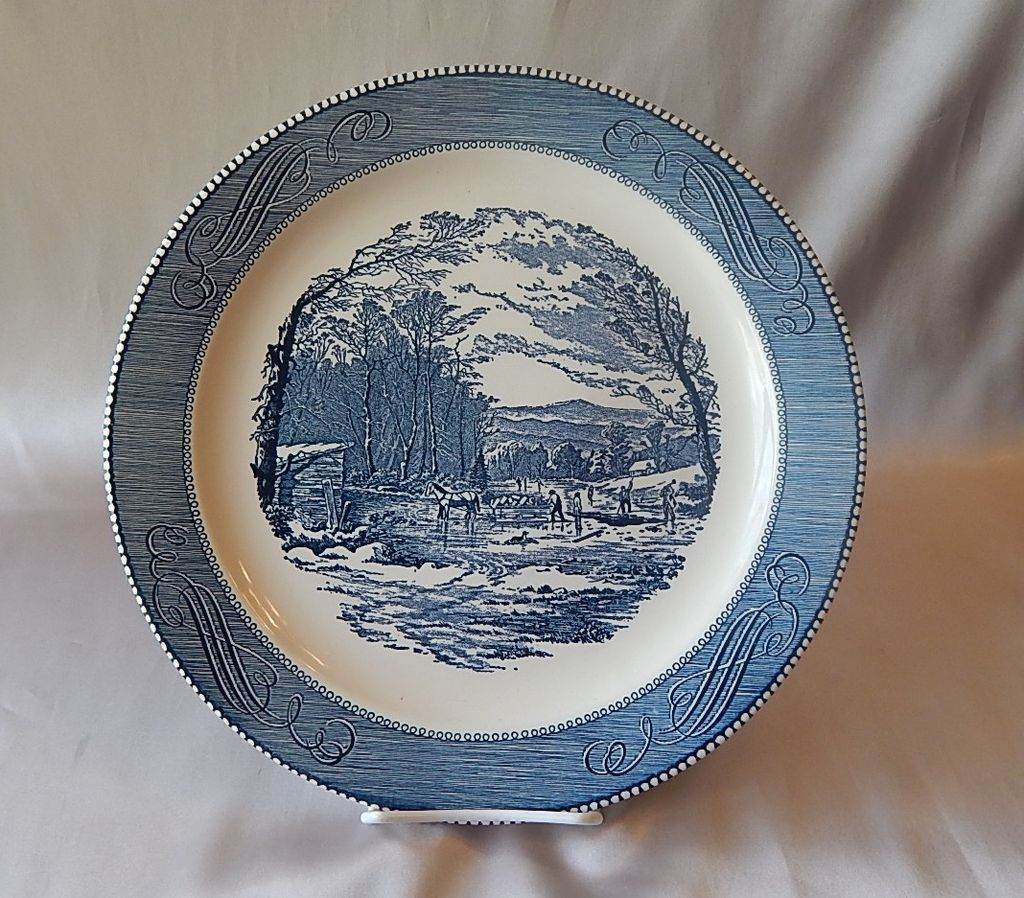 Royal China Currier & Ives Round Serving Platter