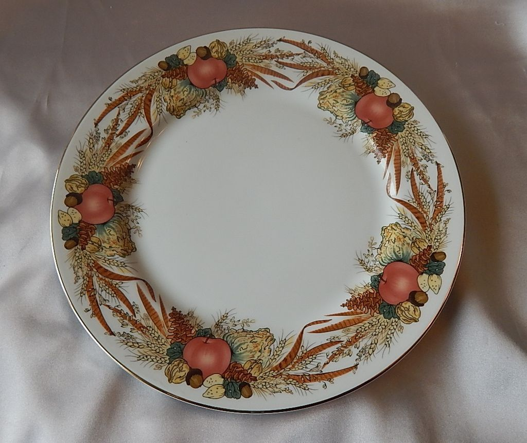 Andrea By Sadek Autumn Cornucopia Dinner Plate