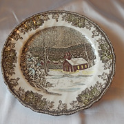 Johnson Bros. Friendly Village Dinner Plate